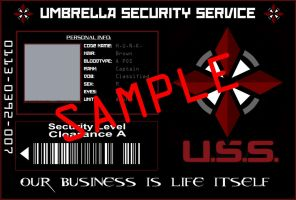 Umbrella Security Service ID Card by Nachtwolfen18