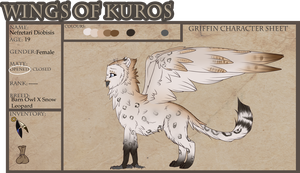 Nefretari Diobisis | Griffon | Wings Of Kuros by jodifarrow22