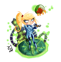 Chibi Suit Samus by demonbp