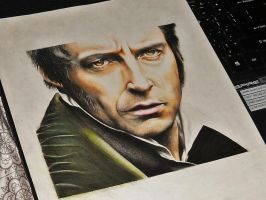 Hugh Jackman (Jean Valjean) photo by rommeldrawlines-12