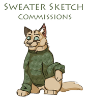 Sweater Sketch Commissions by FelineMyth