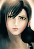 Portrait of Tifa by Fihril