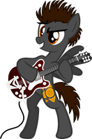 George Harrison with Gretsch Guitar Pony Vector by LonicHedgehog