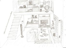 livign room appartement doodle by RipCityXX1