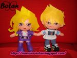 chibi Joey and Mai plush version by Momoiro-Botan