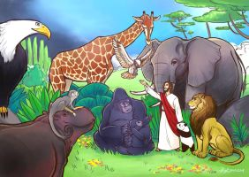 Jesus' Zoo by PsychedelicMind