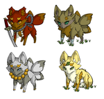 More little Foxies!!XD by Lethochimera