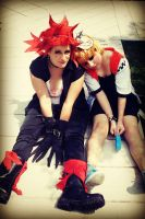Axel and Roxas - Zzzz... by Sweepzebrine