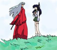 Kagome and Inuyasha By: DDW by YoukiClub