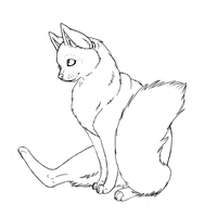 Free floofy cat lineart by Wintaria