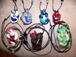 Baby Dragon Necklaces by LittleBachman