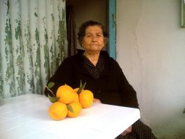 The Lady with tangerines by BillyNikoll