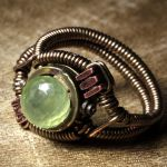 Steampunk Ring Luminous GREEN by CatherinetteRings