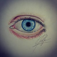 Drawing an eye in color pencil......realistic by MontyKVirge