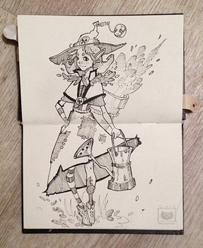 Garden Witch (Inktober 1/31) by Nieris