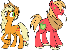 [VECTOR]Applejack and Big Mac future by aruigus808