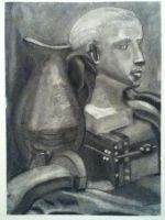 Charcoal Still life by Taryndedoo