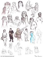 Sketch Dump - Fundamentals of Character Design1 by davi-escorsin