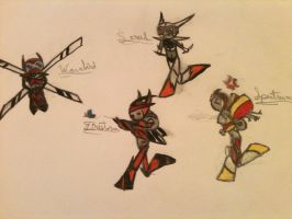 Colored Chibi-formers by Swiftstone