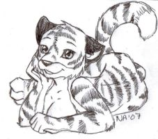 Furcon07 Tiger drawn fursona by Rein-chan