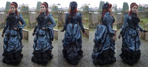 Blue Bustle Dress Version 2014 by MADmoiselleMeli