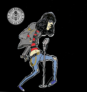 joey ramone - king of punk (version 2) by J-B-Quintal