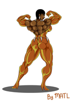 Commission - Vixen muscle growth 2 by MATL
