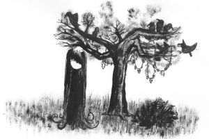 a girl and her tree by k1k0r0