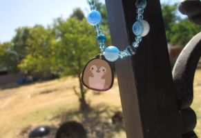 Cute Blushing Gray Penguin Bracelet by Emmamoons