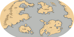 Map of Aeneor II - Robinson projection by AngieMyst