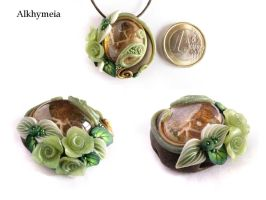 Drop in October with Green Roses by Alkhymeia