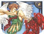 St. Michael Slays The Evil One by natamon