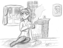 human luna in the winter by jet-pony