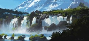 Waterfalls by skybolt