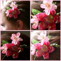 Fairy Blossoms Hair Clip by TheRealLittleMermaid