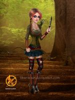 Katniss - Hunger Games by kharis-art