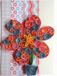 quilled flower card by crochetamommy