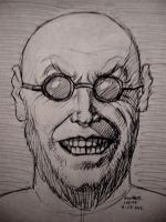 Hugo Strange (pen sketch) by myconius