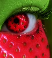 Summer Series - Strawberry Eye by MEGAN-Yrrbby
