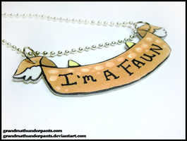 I'm a Faun Necklace by GrandmaThunderpants