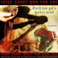 Earth has got a Broken Heart by kenywhp