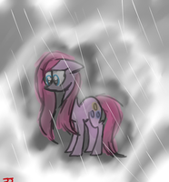 Sad Pinkie In the Rain by ZoruaAWESOME