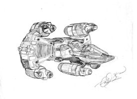 A Gunstar from The Last Starfighter by johnmiic