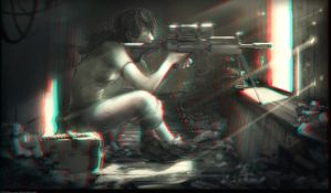 Girl Sniper 3-D conversion by MVRamsey
