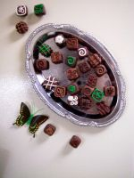 Summer Mint Chocolate Magnets by FlyingFrogCreations