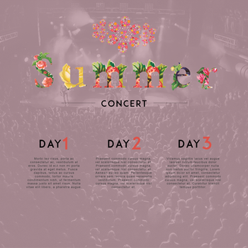 Summer-concert-floral-template-preview-500px by wildsway18