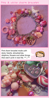 Pink charm bracelet by fairy-cakes