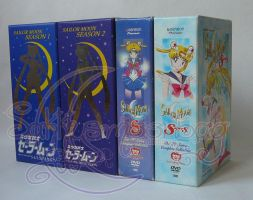 Sailor Moon Anime DVD Box Sets by SakkysSailormoonToys