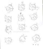 The expressions of Rin (OLD) by yumisuu