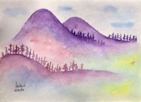 Purple Mountains by meaches